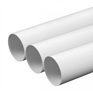 Круглые пластиковые воздуховоды для квартиры