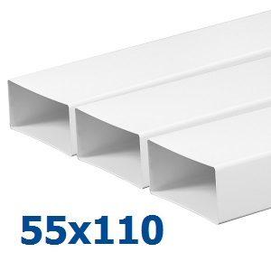 Воздуховоды из пластика (ПВХ) 55х110