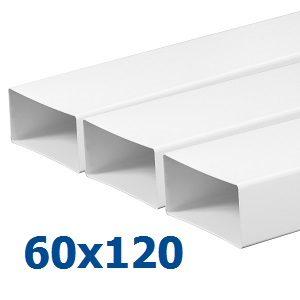 Воздуховоды из пластика (ПВХ) 60х120