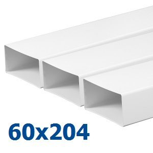 Воздуховоды из пластика (ПВХ) 60х204