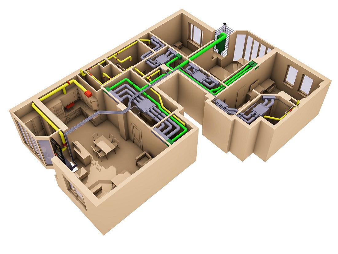 Вентиляция и кондиционирование в квартире под ключ